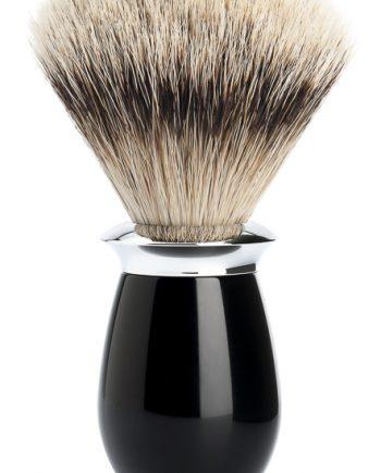 Rakborste Silvertip Badger Purist Resin Black/Metal - L