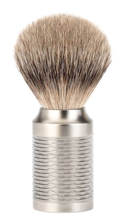 ROCCA Silver Matt Silvertip Badger Shaving Brush