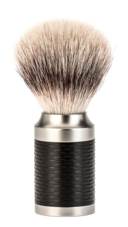 ROCCA Black Silvertip Fibre Shaving Brush
