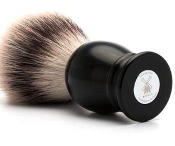 Syntetisk Rakborste CLASSIC Resin Black Silvertip Fibre - L