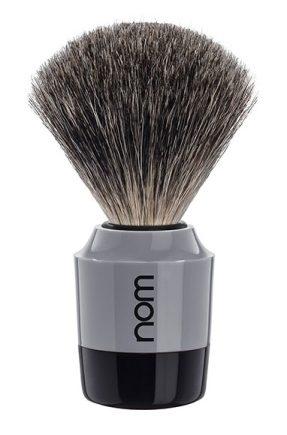 MARTEN Shaving Brush Pure Badger - Black Grey