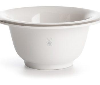 Porcelain White Shaving Bowl Platinum Rim